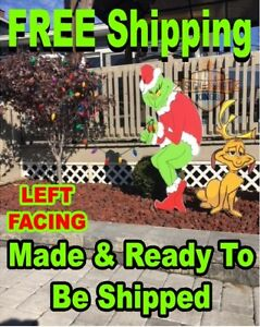 image is loading grinch stealing christmas lights yard art left facing