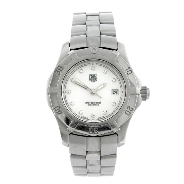 60d5011b926 Wn131h.ba0360 Tag Heuer Professional 2000 Pearl Diamond Ladies Watch ...
