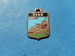 medaille pendentif  BLASON TOURISME VILLE EMAILLE DABO CHATEAU  thfr