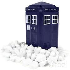 NUOVO DOCTOR WHO TARDIS in Scatola Latta Mentine Scatola regalo a forma di logo DW BBC UFFICIALE