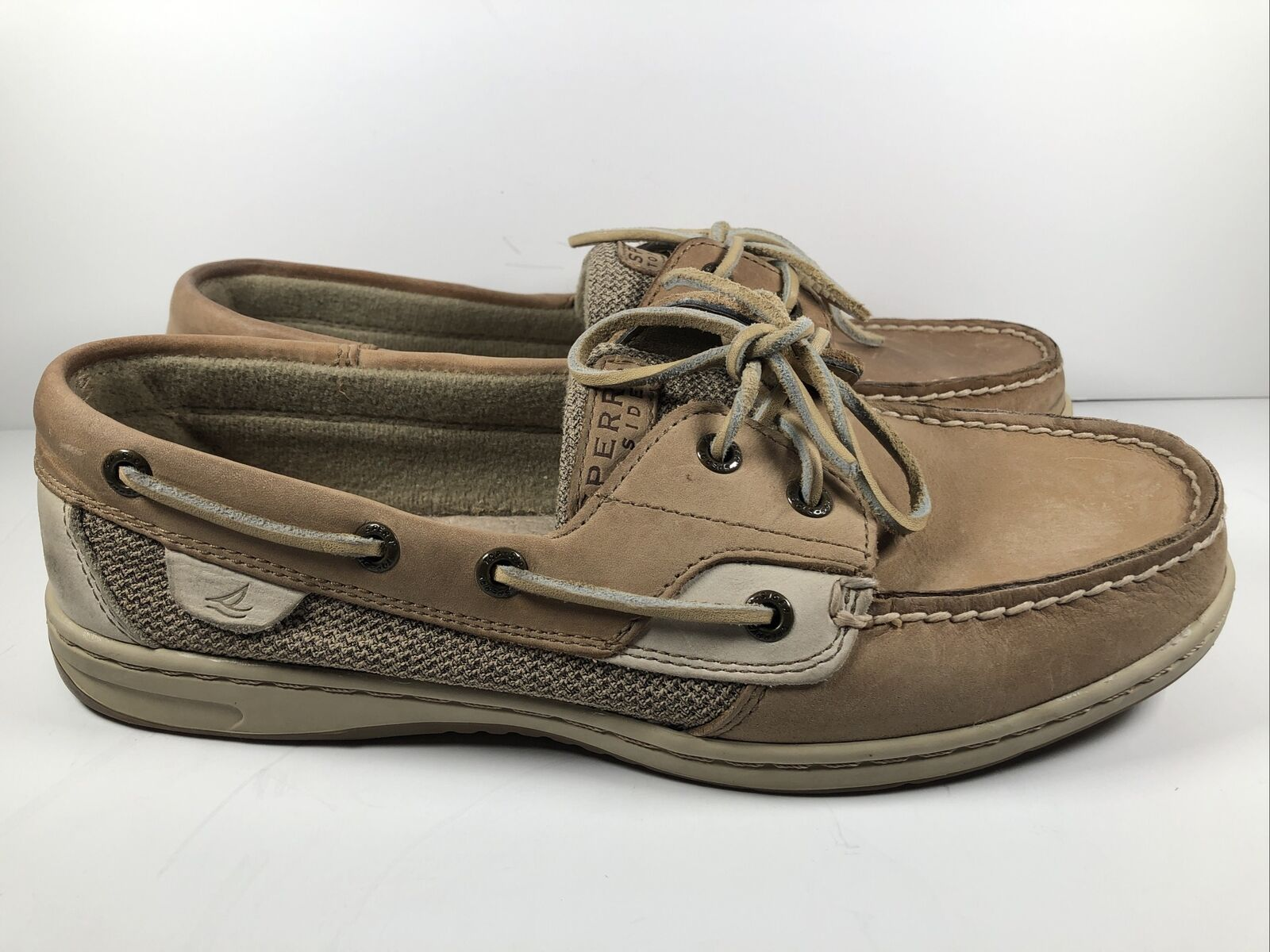 Sperry Bluefish Boat Shoes - Women's Size 9.5M - Oat