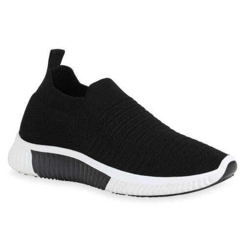 Damen Sportschuhe Slip Ons Strick Laufschuhe Fitness Sneaker 830536 Trendy