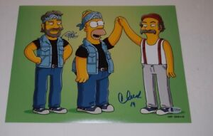 Cheech-Marin-amp-Tommy-Chong-Signed-Autographed-11x14-Photo-The-Simpsons-BAS-COA