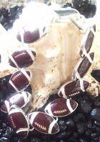 Football Charm Magnetic Closure Bracelet Sports