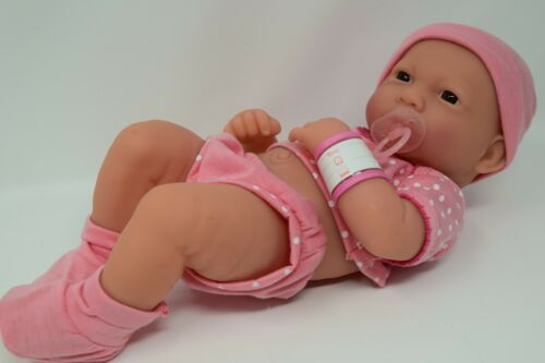 """14/"""" Reborn Newborn Baby Doll 30cm Vinyl Doll Lovely Pink Outfit Simulation Doll"""