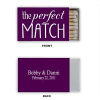 Wedding Bridal Shower ANY COLOR Match Box Labels Personalized Custom