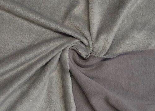 Alpenfleece doubleface Alpes Fleece tissu coton unicolore Habillement DECO
