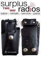 Motorola Hln9417a Holster Leather Case W/belt Loop For Gp350