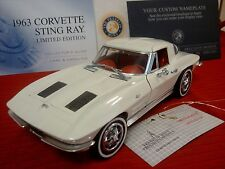 FRANKLIN MINT 1963 CHEVY CORVETTE..RARE LE COUPE..1:24..NIB..PAPER..UNDISPLAYED