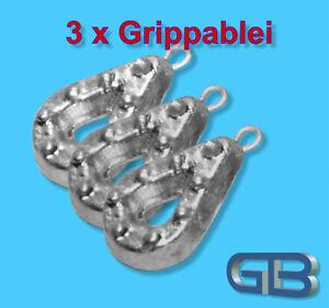 3-x-Grippa-mit-Ose-40g-50g-60g-90g-190g-220g-300g-Angelblei-Grund-blei