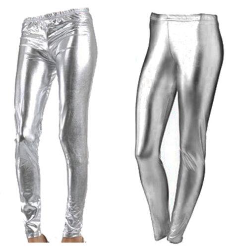 Colour Shiny Ladies Metallic Wet Look Leggings Jeggings Tight Pants Full Length