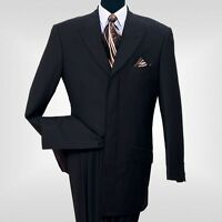 Men's  Milano Moda 4 Hidden Button With 3 Back Splits Suit #5605
