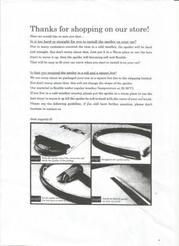 UNPAINTED Mercedes Benz C-class W203  Boot Lip Spoiler 2001-2012