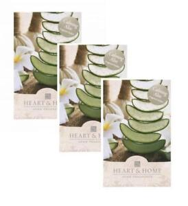 Bien Pack Of 3 Heart And Home Calming Aloe Large Scented Fragrance Sachet With Hanger-afficher Le Titre D'origine