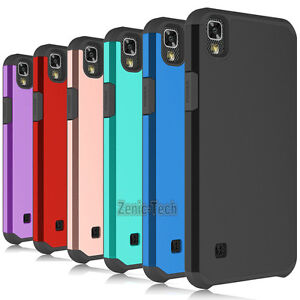 the latest a4217 3a7f4 For LG X Power / LS755 Case Shockproof Armor Hybrid PC Silicone Hard ...