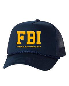 Female Body Inspector Mesh Trucker Hat Cap Snapback Adjustable New ... 1690c3b0233