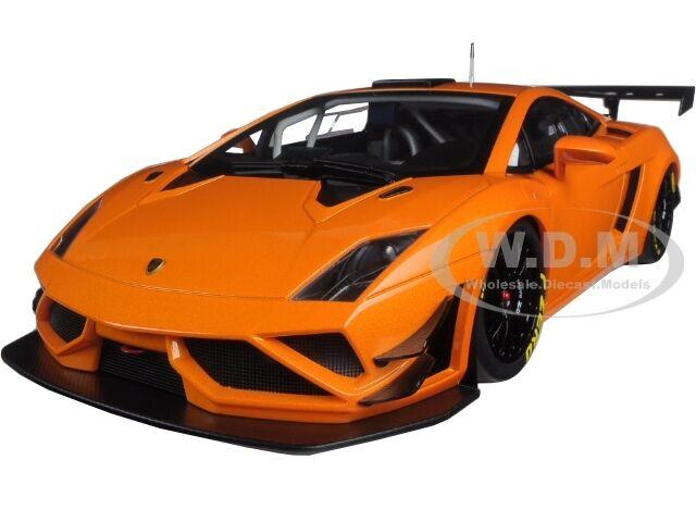 LAMBORGHINI GALLARDO GT3 FL2 2013 METALLIC arancia 1/18 MODEL CAR AUTOART 81357