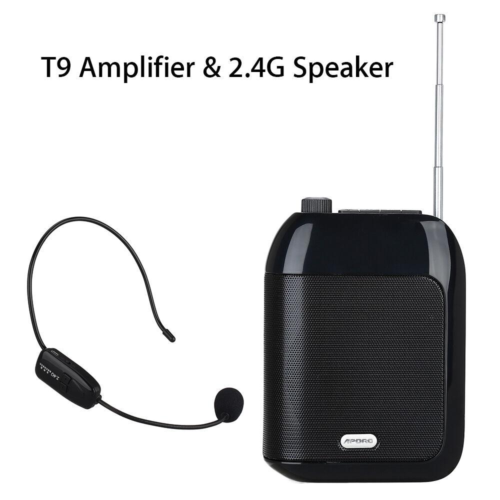 Amplificador de voz T9 T9 T9 Amplificador de altavoz + 2.4G Radio inalámbrico FM Radio  garantizado