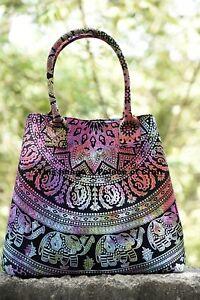 0b53c2aa9eec Image is loading Indian-Elephant-Mandala-Cotton-Bag-Ladies-Shopping-Bag-