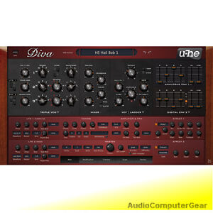 U he diva virtual analog synthesizer software synth plug - U he diva ...