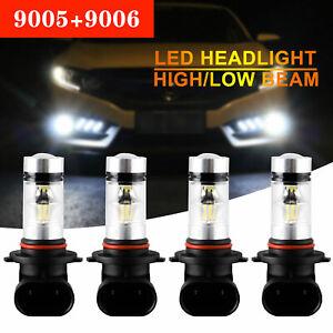 4X-9005-9006-200W-8000LM-Combo-LED-Headlight-Kits-High-Low-Beam-Bulb-6000K-White