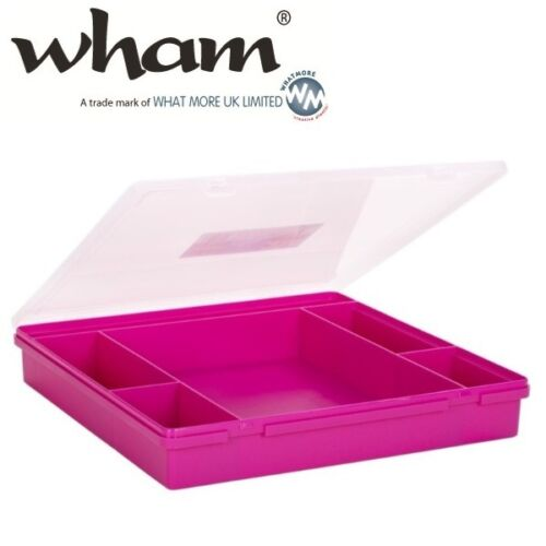 Wham ® 23357 anneaux 6-matières rose environ 38x39x6cm sortierkasten Assortiment encadré