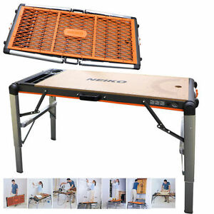 Portable Workbench 2 In 1 Table Scaffold Collapsible Platform 500 Lbs