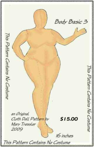 "PATTERN /""BODY BASIC 3/"" BY MARY TRESSLER *NEW* CLOTH ART DOLL PAPER"