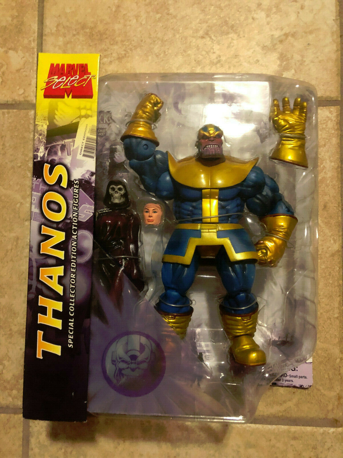 Marvel Select - THANOS with Death and INFINITY GUANTLET Action Figure from 2005