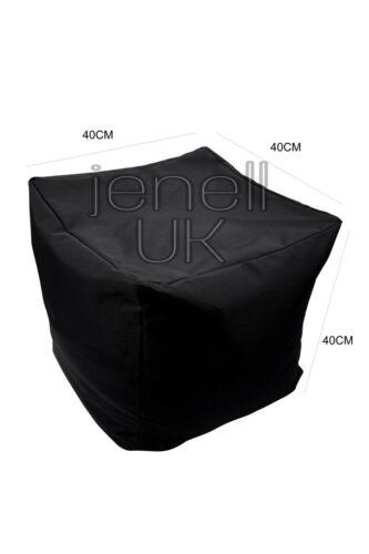 Cotton Filled Bean Bag Cube Footstool Pouffe Seat Footrest adult Children/'s Kids