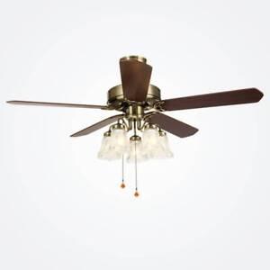 Ka 52 Quot Ceiling Fan With Light 5 Blades Bronze Reversible
