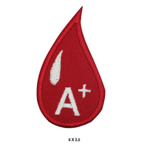 A Positive Blood Drop Iron On Patch Sew On Badge Embroidered Cloth Patch