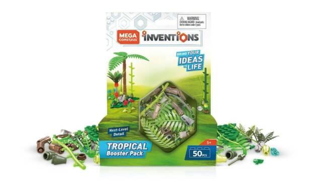Mega Construx Inventions TROPICAL BOOSTER PACK Building Set FWP17 - 50 Pieces