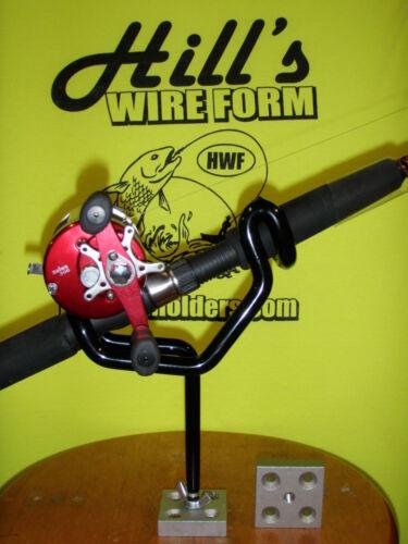 "6 Fishing rod holders coated 30 degree 5/"" stems 4-screw bases Reel Fisherman"