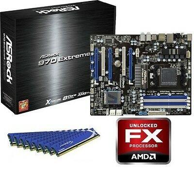AMD FX-8350 Eight CORE CPU EXTREME 4 MOTHERBOARD 8GB DDR3 MEMORY RAM COMBO KIT