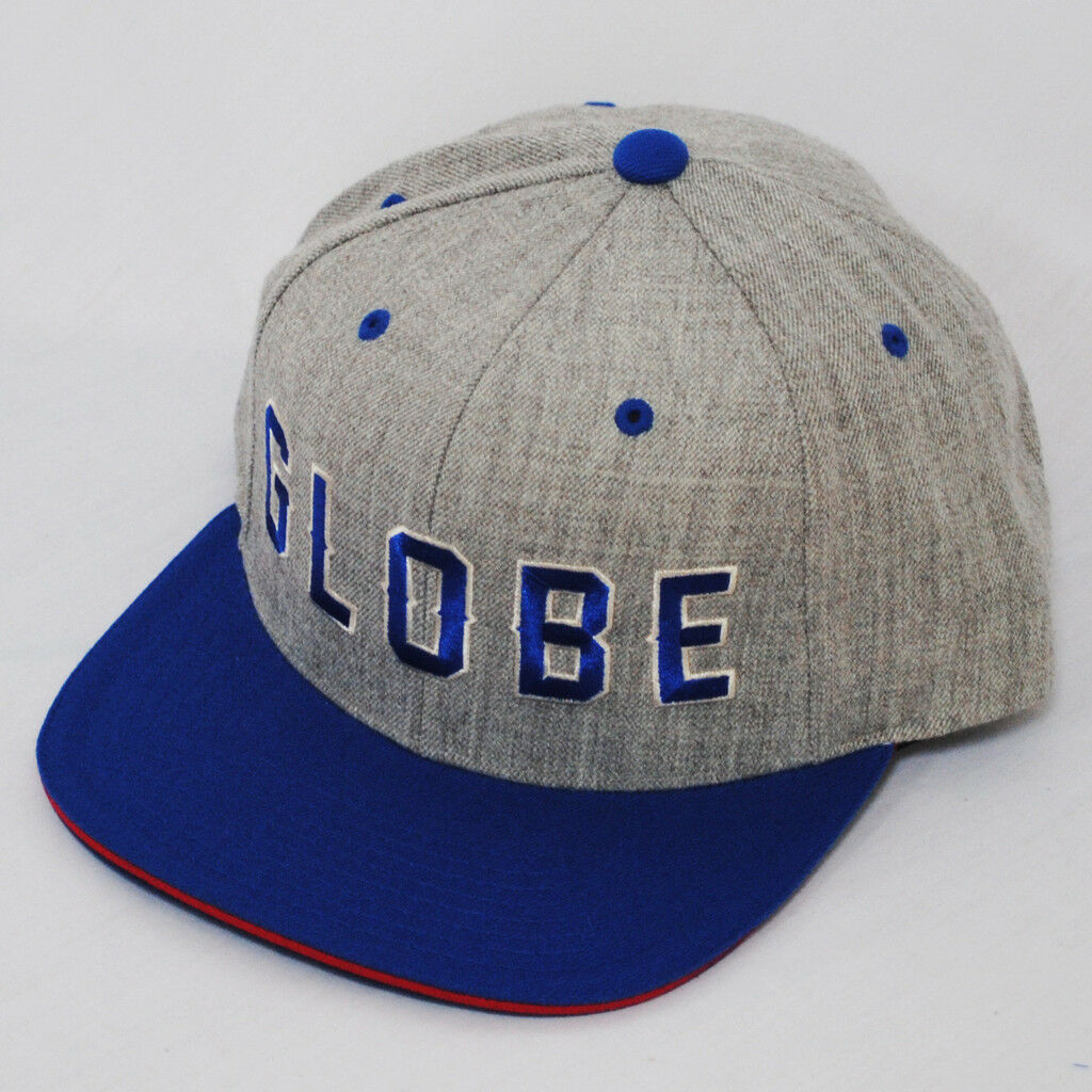 Globe Idaho Starter Heather Grau Königsblau Snapback Hut Mütze