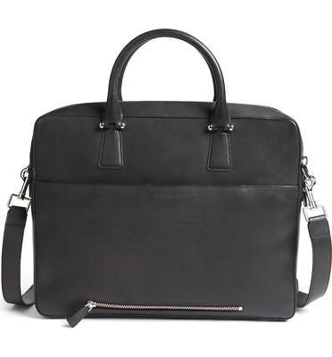c3360d9ab4e $450 COLE HAAN BLACK MESSENGER Leather Flapover LAPTOP BRIEFCASE WORK BAG