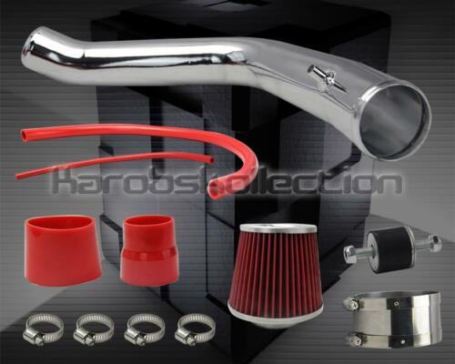 2003-2007 HONDA ACCORD V6 CHROME COLD AIR INTAKE SYSTEM PIPING FILTER