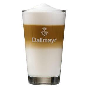 DALLMAYR-Latte-Macchiato-Glas-mit-grauem-Aufdruck-Kaffeeglas-Milchkaffee-250ml