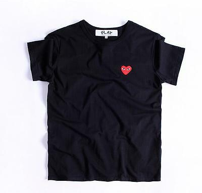 HOT Comme Des Garcons CDG Play Red Heart Cotton Short Sleeve Tee T-shirts