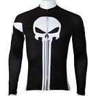 Black Long Sleeve Cycling Jersey Men's Winter Cycling Shirts Bike Jersey S-5XL