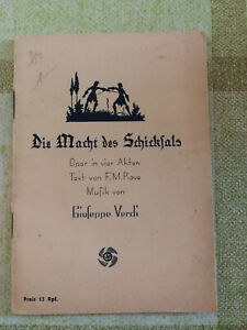 Buch-Heft-Die-Macht-des-Schicksals-Giuseppe-Verdi-Deutsches-Reich-Flohmarkt