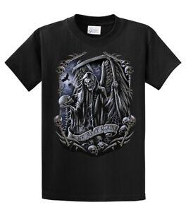 Grim Reaper Horror Fan Gift Adult /& Kids Tee Top Death Metal Superman T-Shirt