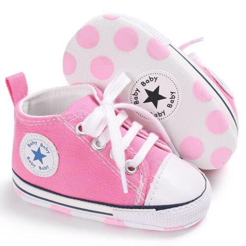 5X Newborn Baby Boy Girl Shoes Infant SneakersToddler PreWalker Trainers 0-18 UK