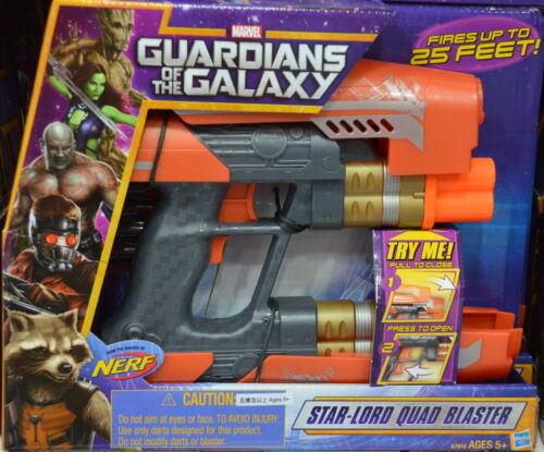 Hasbro Guardians of the Galaxy Nerf Star-Lord Quad Blaster Rocket Gun
