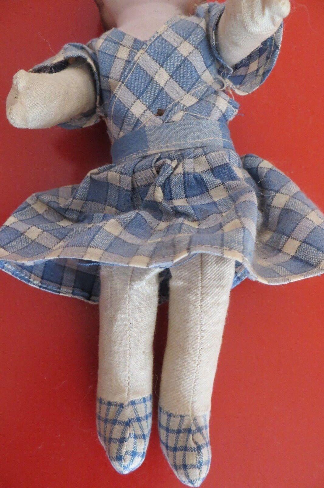 Petite Petite Petite poupée ancienne en terre de pipe années 30 8fccc1
