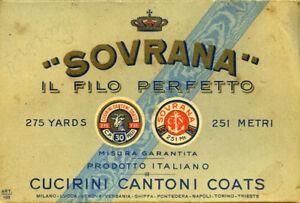 Confezione-pubblicitaria-d-039-epoca-in-cartoncino-034-SOVRANA-034-IL-FILO-PERFETTO