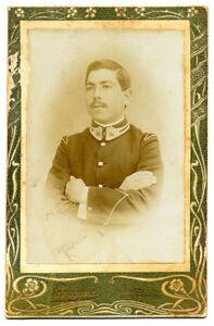 CDV Agrigento Sicily Ritratto di un militare Foto originale albumina 1890c S1220