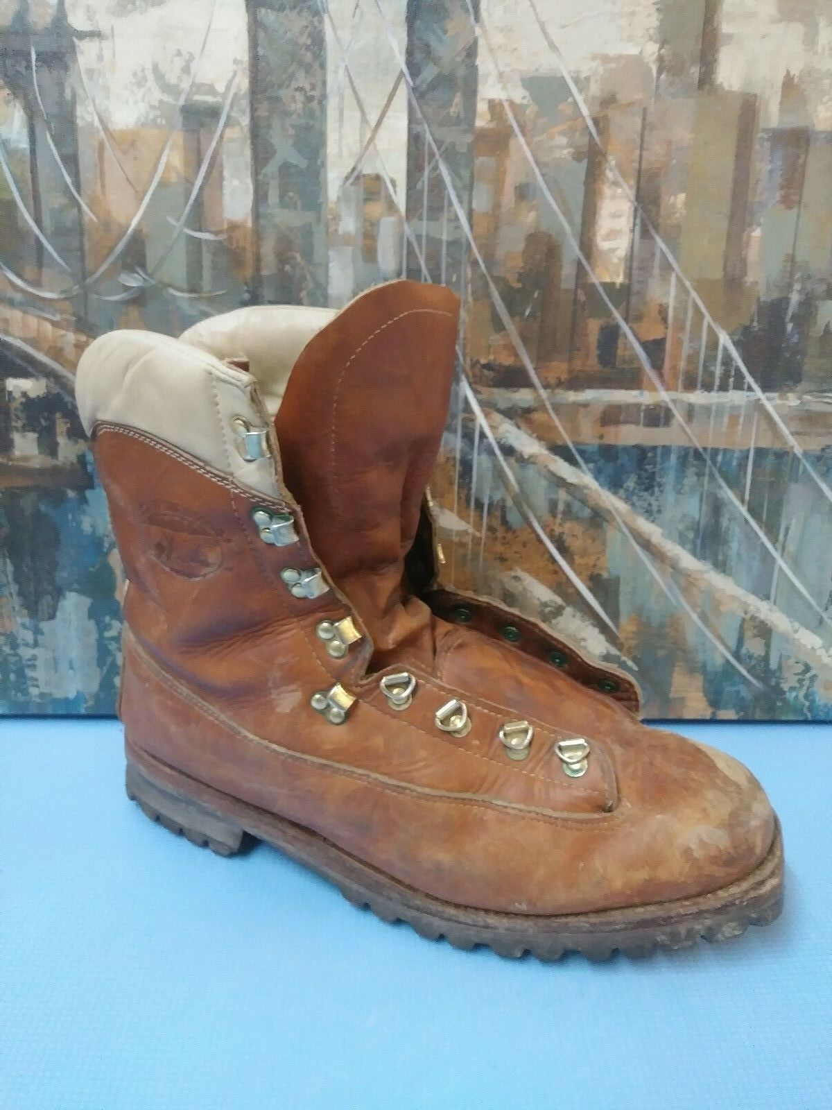 Lake of the Woods 5900 Men's Hiking Boots Brown Leather Boots Size 13D