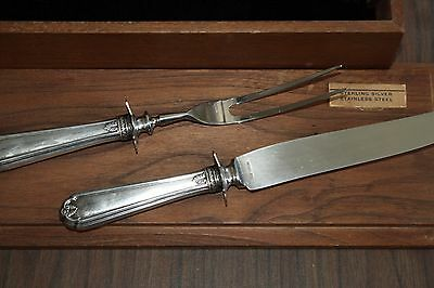 Vintage sterling and stainless carving set